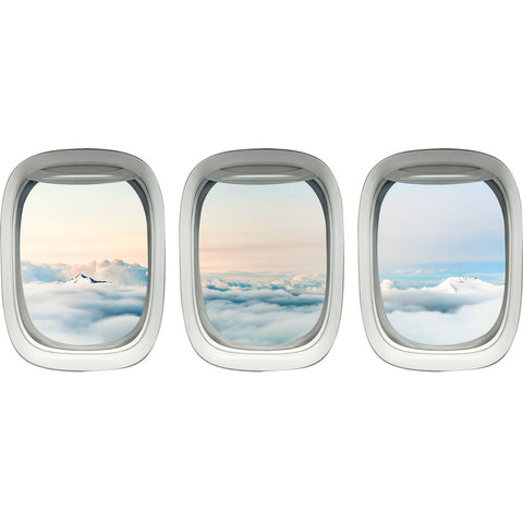 VWAQ Airplane Wall Decals For Kids Rooms - Aviation Wall Stickers, Plane Window Clings -PPW36 - VWAQ Vinyl Wall Art Quotes and Prints