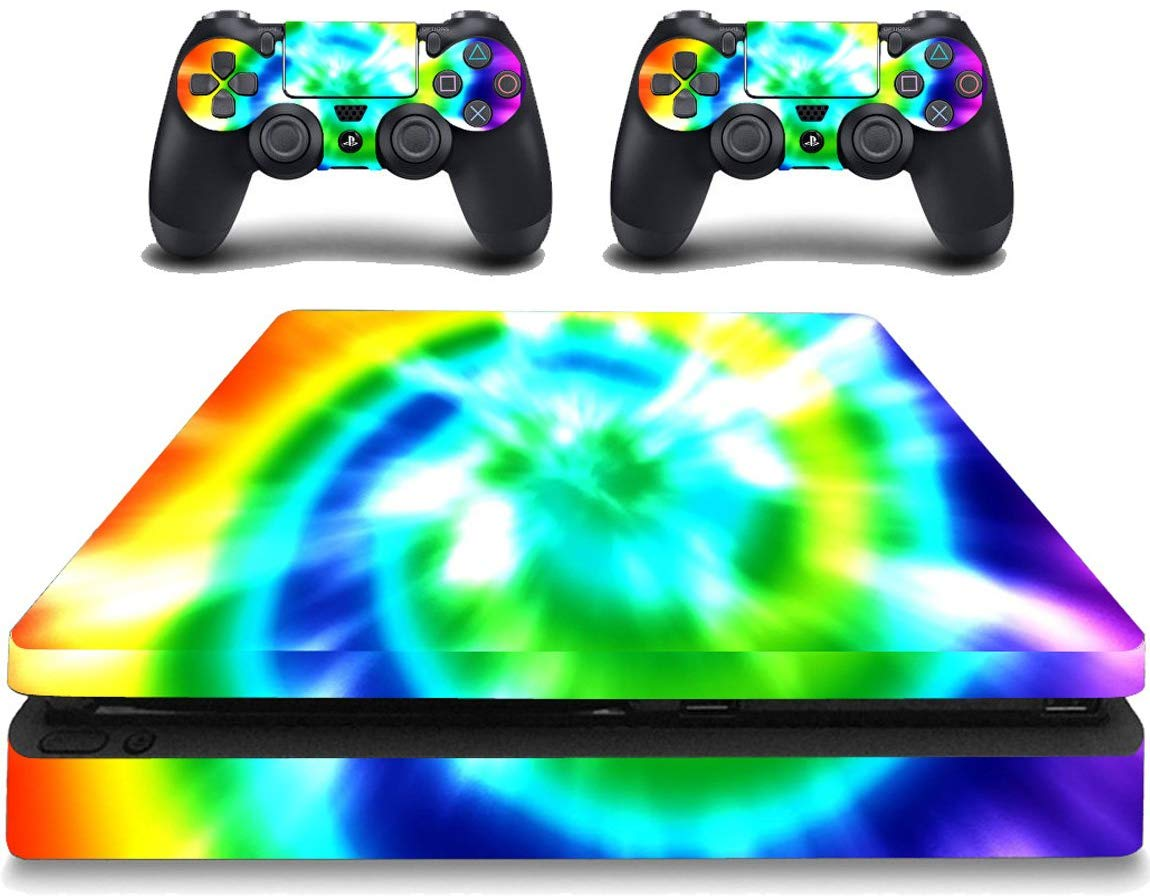 VWAQ PS4 Slim Game Skin Tie Dye Pattern - PSGC2 - VWAQ Vinyl Wall Art Quotes and Prints