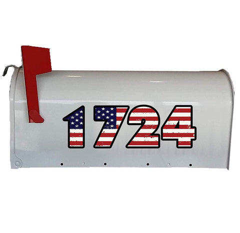 American Flag Personalized Mailbox Address Decals - TTC2-P - VWAQ Vinyl Wall Art Quotes and Prints