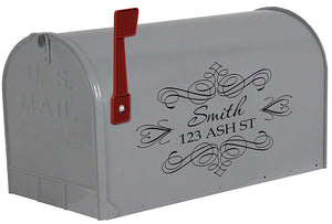VWAQ Personalized Mailbox Decals with Name and Street Address - TTC5 - VWAQ Vinyl Wall Art Quotes and Prints