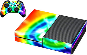 VWAQ Xbox One Tie Dye Skin For Console And Controller Rainbow Skin For Xbox One - XGC2 - VWAQ Vinyl Wall Art Quotes and Prints