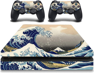 VWAQ The Great Wave off Kanagawa Decal Skins PS4 Slim Cover Skin - PSGC8 - VWAQ Vinyl Wall Art Quotes and Prints