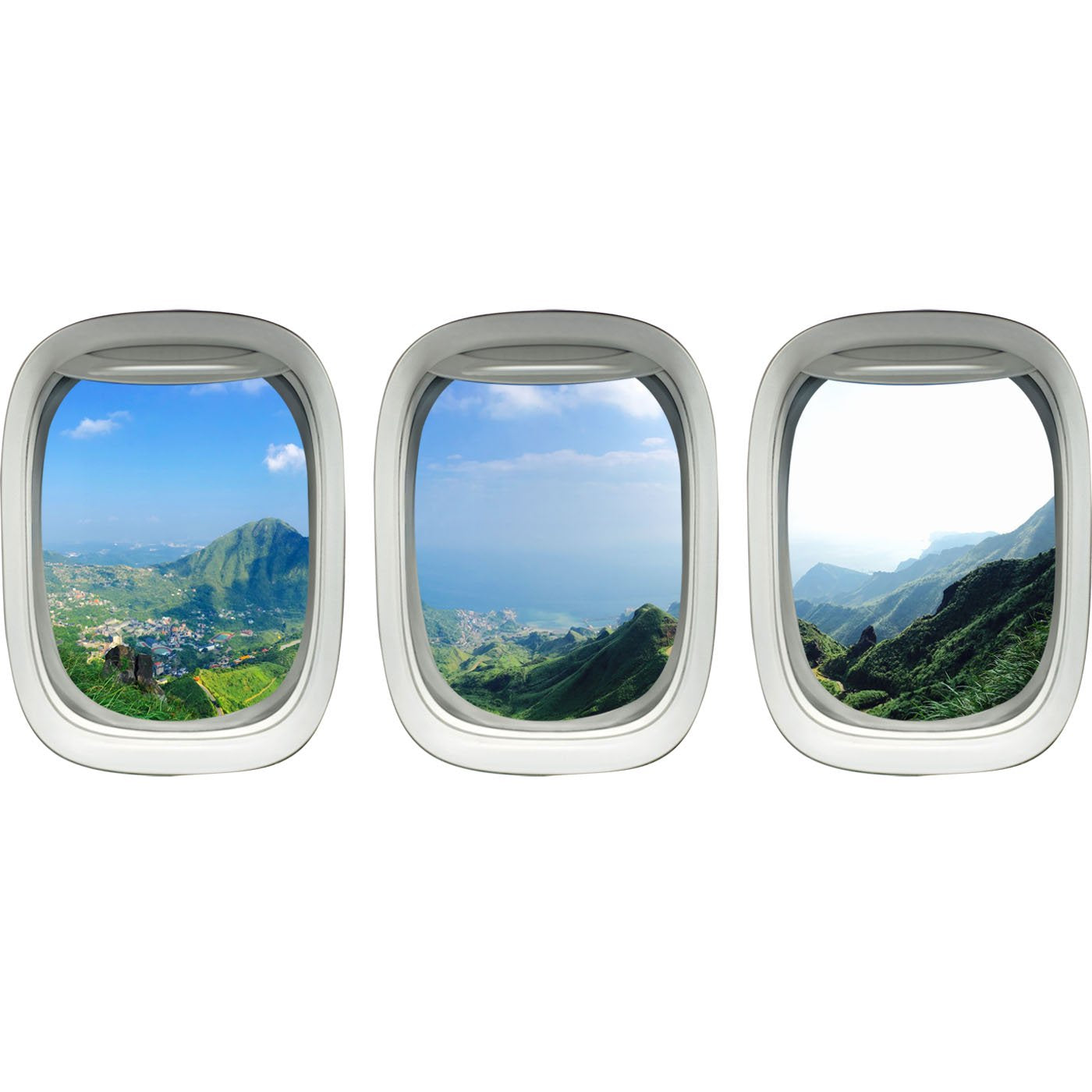 VWAQ Tropical Window Clings Decals - Nature Vinyl Wall Art Mural Decor, Airplane Window Sticker -PPW43 - VWAQ Vinyl Wall Art Quotes and Prints