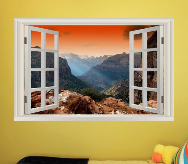 VWAQ Zion National Park Wall Art Decal Sticker - Nature Peel And Stick Window Mural - NWT5 - VWAQ Vinyl Wall Art Quotes and Prints