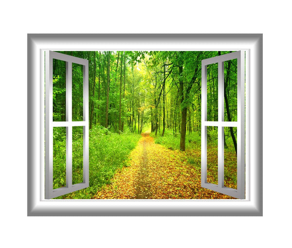 3D Forest Wall Decals Outdoors Wall Decor Peel and Stick Mural - NW22 - VWAQ Vinyl Wall Art Quotes and Prints