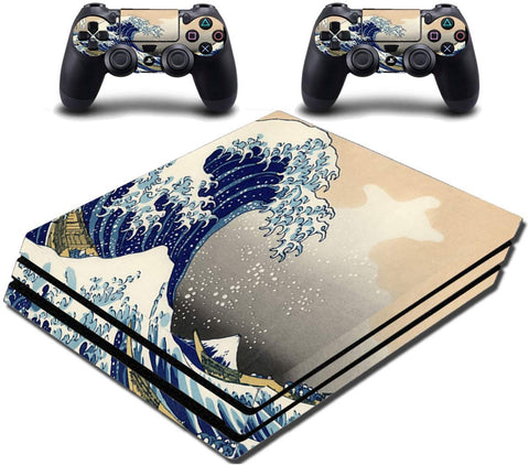 VWAQ PS4 Pro Wrap The Great Wave Off Kanagawa Skin Decal - PPGC8 - VWAQ Vinyl Wall Art Quotes and Prints