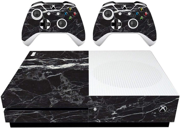 VWAQ Xbox One S Black Cover XB1 Slim Marble Skins for Console - XSGC6