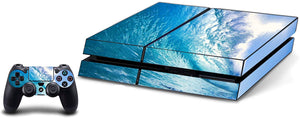 VWAQ Game Skins for PS4 and Controller Skin Ocean Blue Wave Design - PGC9 - VWAQ Vinyl Wall Art Quotes and Prints