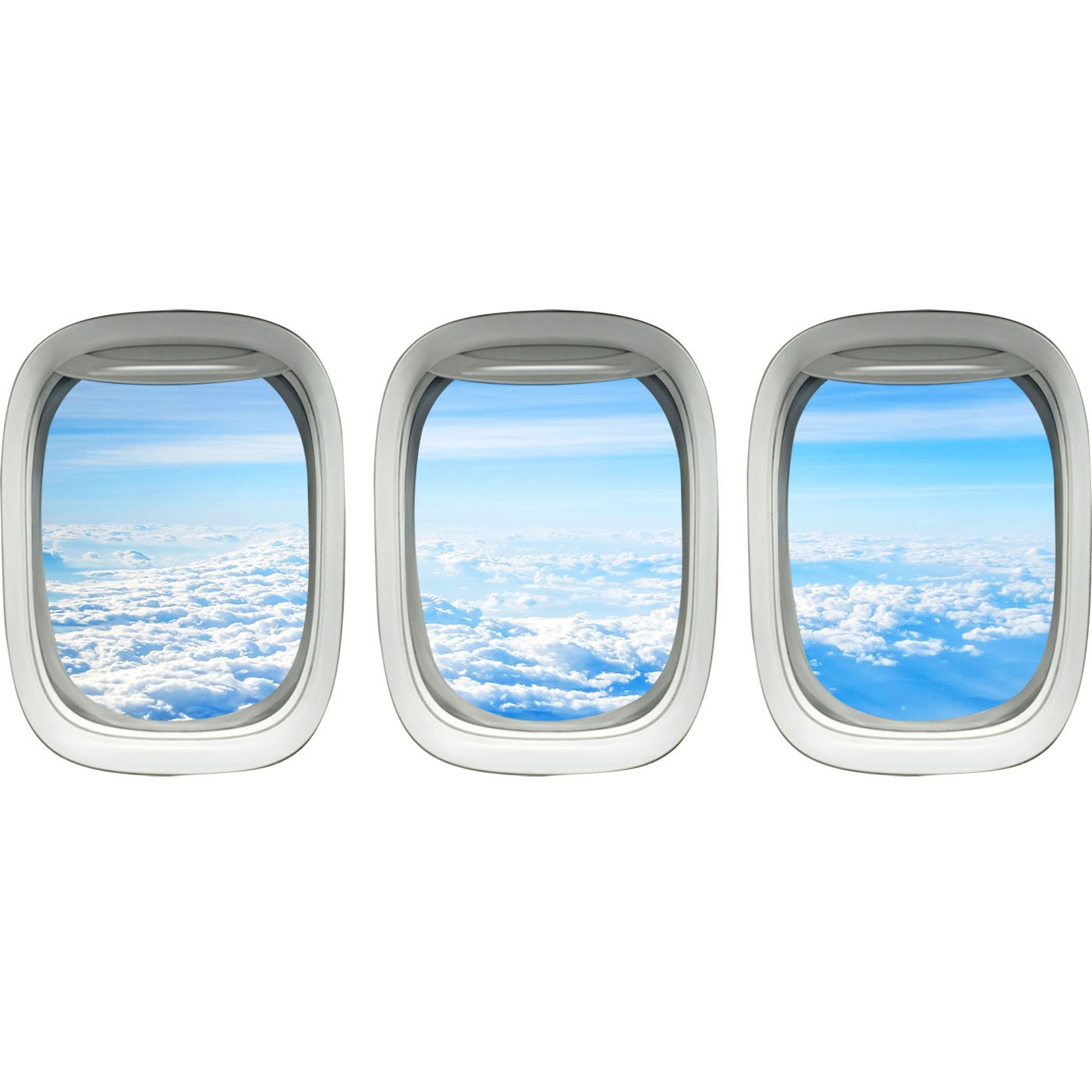 Airplane Window View Wall Decals PPW37 - VWAQ Vinyl Wall Art Quotes and Prints