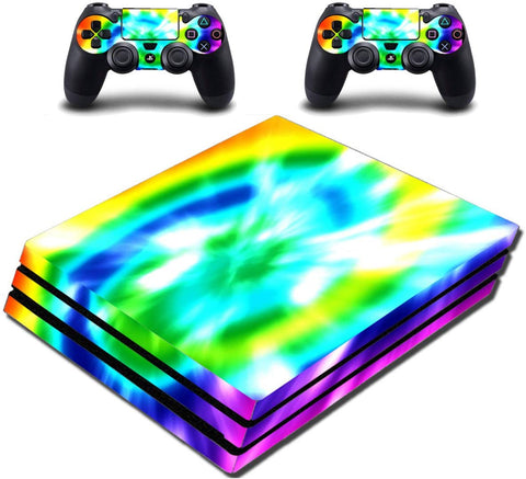 VWAQ Tie Dye PS4 Pro Skin Cover Sony Playstation 4 Pro Rainbow Decal - PPGC2 - VWAQ Vinyl Wall Art Quotes and Prints