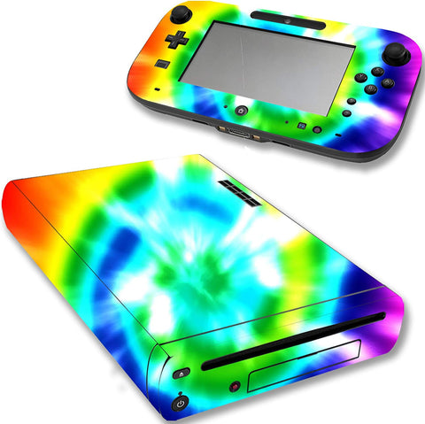 VWAQ Game Skins for Nintendo Wii U Tie Dye Rainbow Design - WGC2 - VWAQ Vinyl Wall Art Quotes and Prints