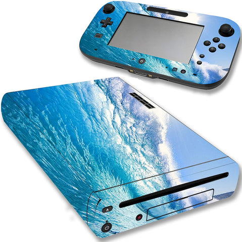VWAQ Wii U Console Ocean Skin Nintendo Wii U Water Decal Sticker Covers - WGC9 - VWAQ Vinyl Wall Art Quotes and Prints