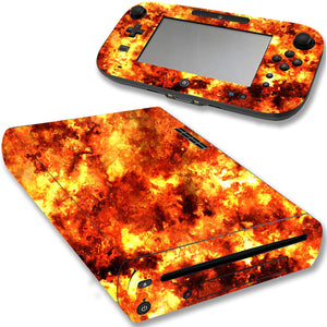 VWAQ Wii U Flame Decal Sticker Nintendo Wii U Console Fire Skin Cover - WGC3 - VWAQ Vinyl Wall Art Quotes and Prints