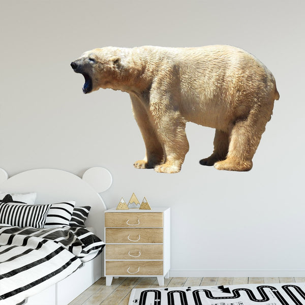VWAQ Polar Bear Wall Decal Sticker White Bear Wall Art Animal Decor Mural - PAS10 - VWAQ Vinyl Wall Art Quotes and Prints