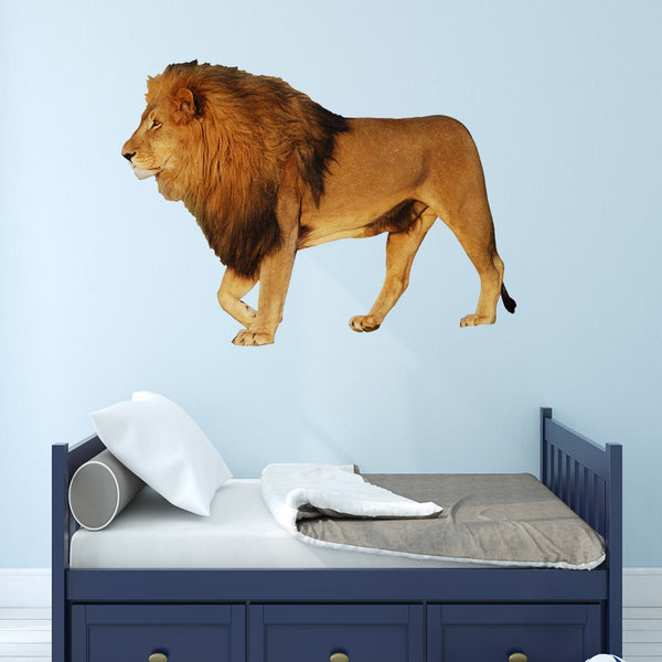 VWAQ Lion Wall Art Sticker Decal African Animal Wall Decor Peel And Stick Mural - PAS1 - VWAQ Vinyl Wall Art Quotes and Prints