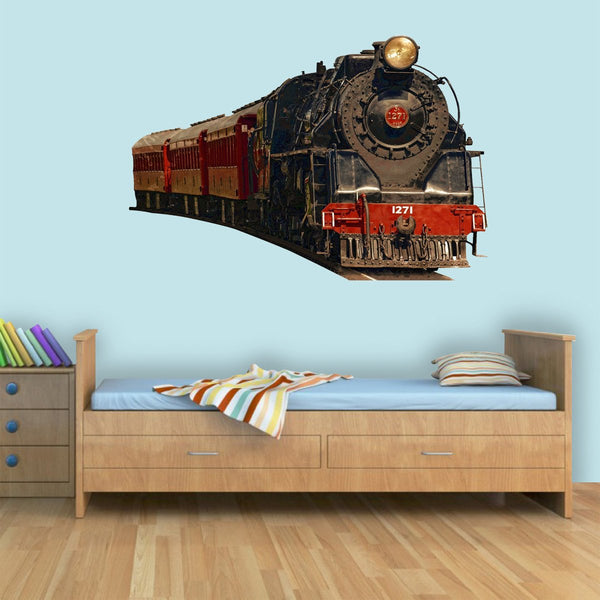 Vintage Train Wall Decal Realistic Train Wall Decals Peel And Stick Mural - PAS2 - VWAQ Vinyl Wall Art Quotes and Prints