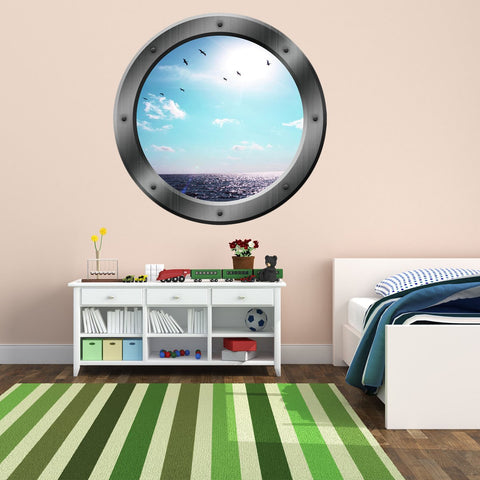 VWAQ Sea Porthole Window Ocean View Wall Decal - PO14