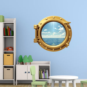 VWAQ Peel and Stick Sea Cruise Window Porthole Vinyl Wall Decal - PO99