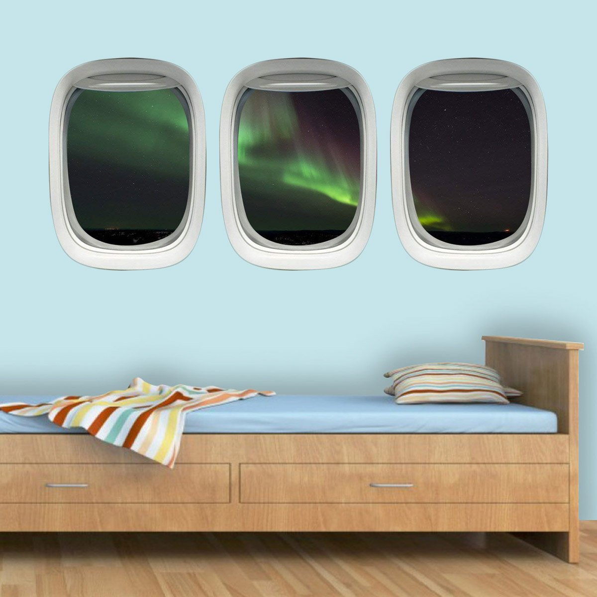 VWAQ Airplane Window Decals Northern Lights ~ Aurora Borealis Wall Art - PPW11 - VWAQ Vinyl Wall Art Quotes and Prints