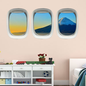VWAQ Plane Window Clings Mt. Fuji Wall Art Airplane Wall Stickers Aviation Decal - PPW21 - VWAQ Vinyl Wall Art Quotes and Prints