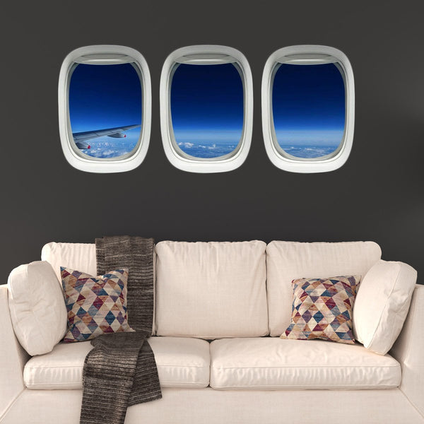 VWAQ Airplane Window Decals Aerial Aviation Window View Decor - PPW26 - VWAQ Vinyl Wall Art Quotes and Prints
