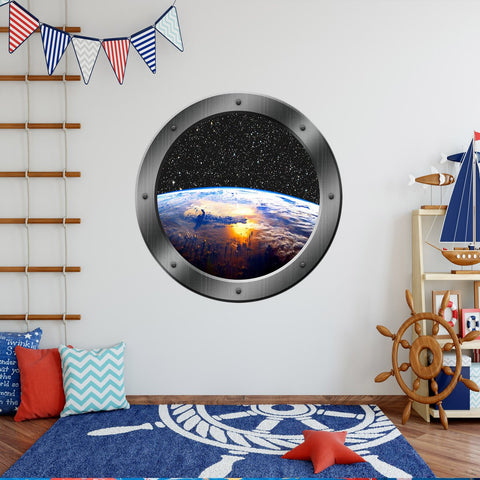 VWAQ Earth Window Porthole Vinyl Wall Decal - PS11 - VWAQ Vinyl Wall Art Quotes and Prints