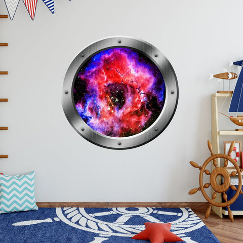VWAQ Space Portal 3D Wall Decals, Nebula Mural, Outerspace Decal - PS26 - VWAQ Vinyl Wall Art Quotes and Prints