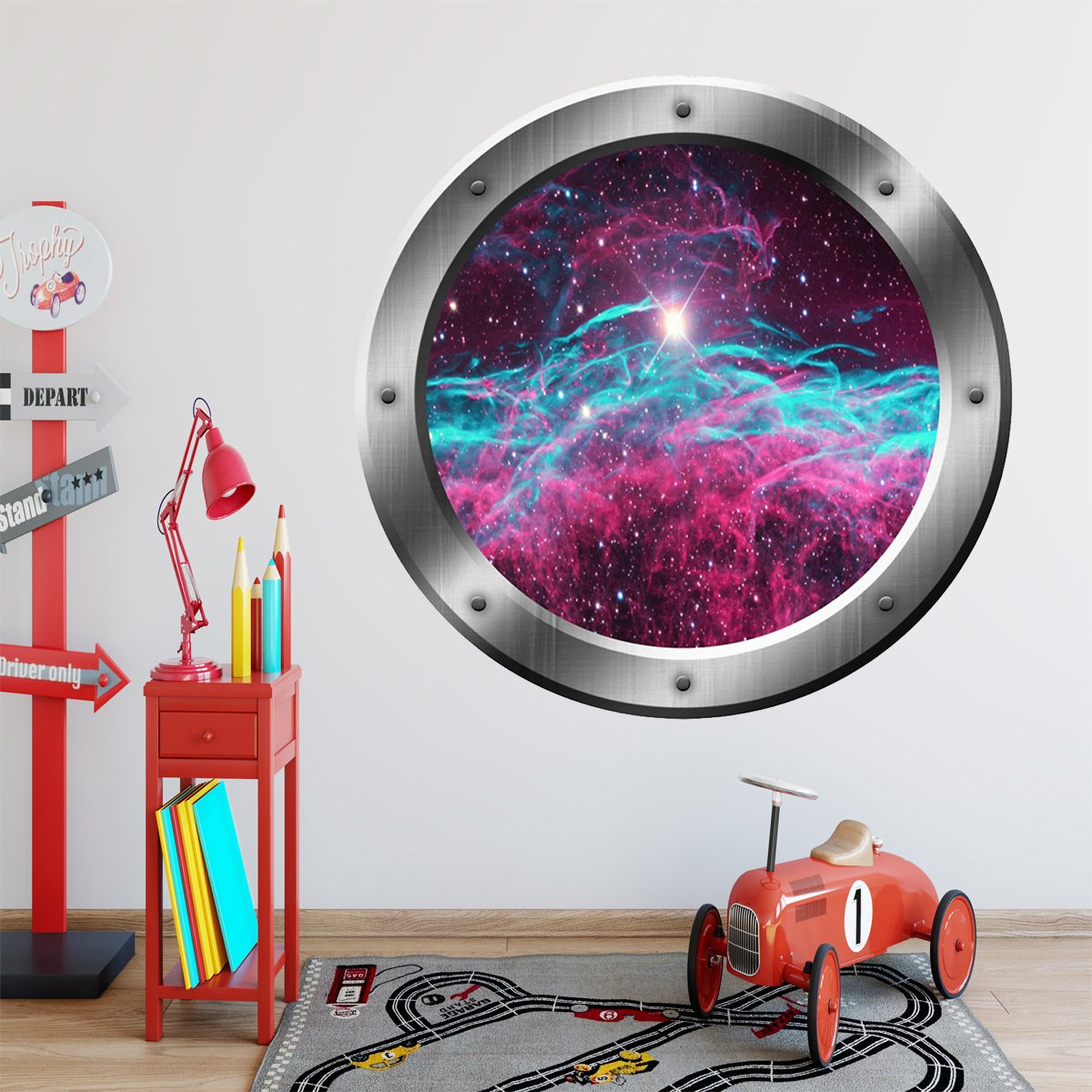 Space Porthole, Milky Way Wall Decal, Universe Wall Stickers - VWAQ Vinyl Wall Art Quotes and Prints