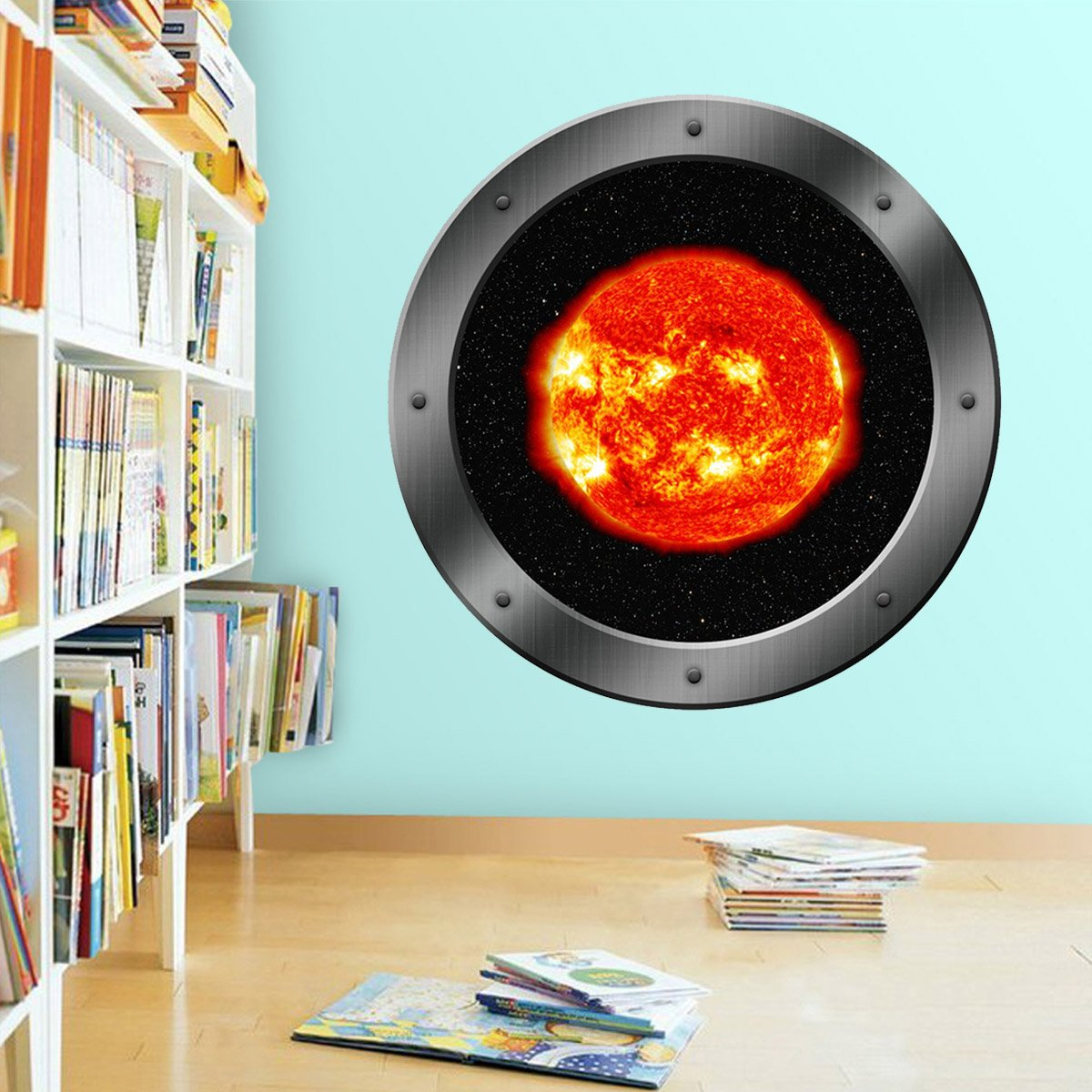 Sun Window Clings, Space Star Wall Decal - Solar System For Kids Room - VWAQ Vinyl Wall Art Quotes and Prints