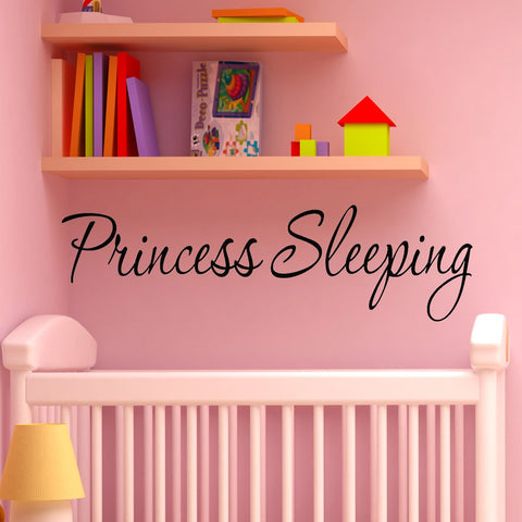VWAQ Princess Sleeping Nursery Vinyl Wall art Decal