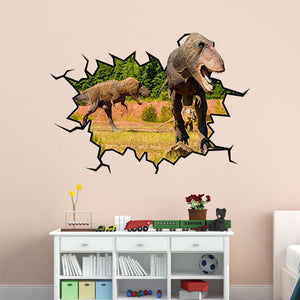 3D T-Rex Wall Crack Peel and Stick Vinyl Wall Decal - WC18 - VWAQ Vinyl Wall Art Quotes and Prints