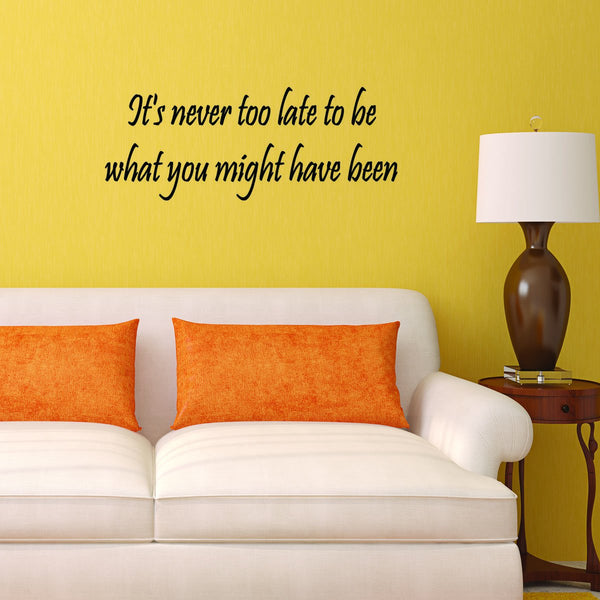VWAQ It's Never Too Late to Be What You Might Have Been Wall Decal
