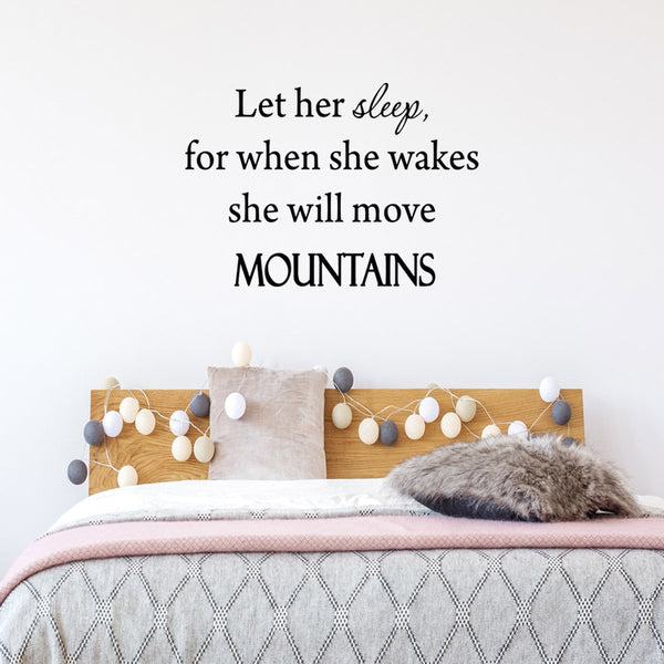 VWAQ Let Her Sleep, For When She Wakes Vinyl Wall Decal - VWAQ Vinyl Wall Art Quotes and Prints