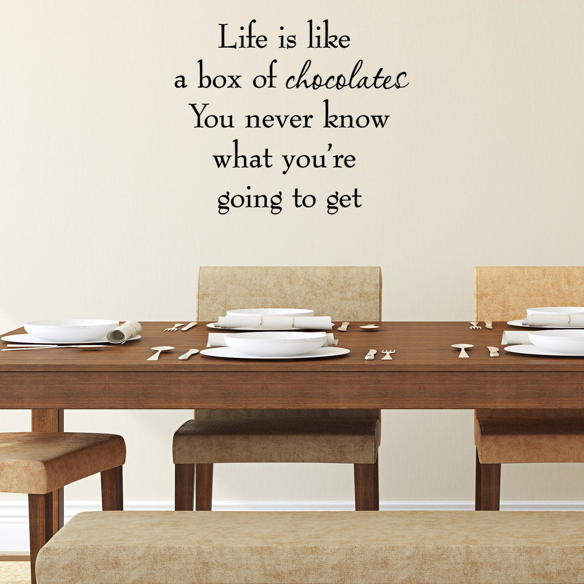 VWAQ Life is Like a Box of Chocolates Wall Decal