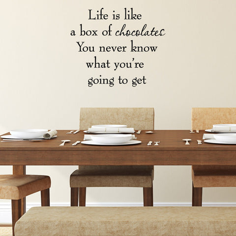 VWAQ Life is Like a Box of Chocolates Quote Popular Wall Quotes - VWAQ Vinyl Wall Art Quotes and Prints
