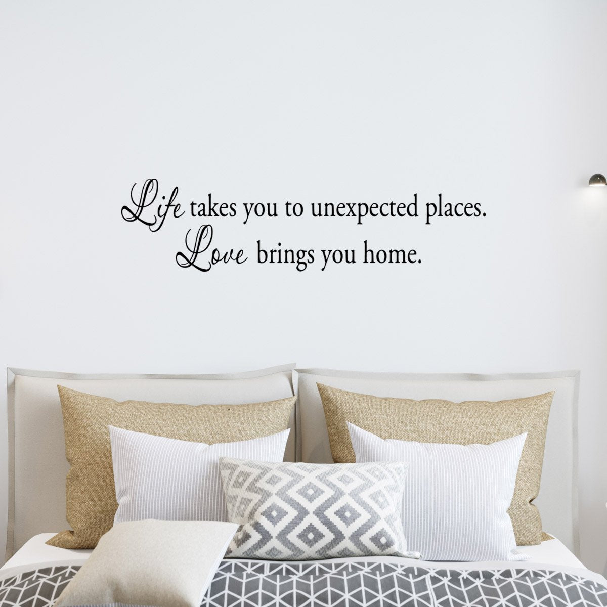 VWAQ Life Takes You To Unexpected Places, Love Brings You Home Wall Decal - VWAQ Vinyl Wall Art Quotes and Prints