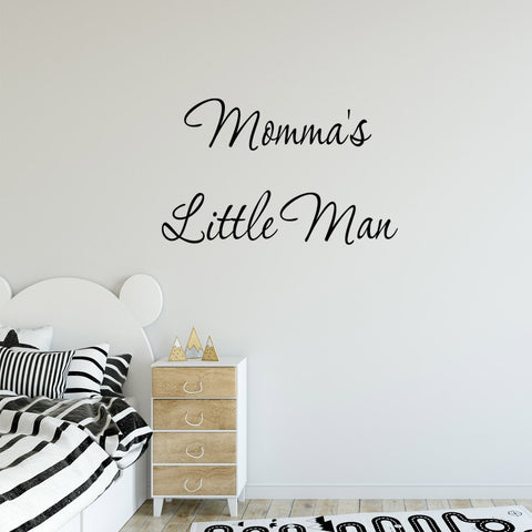 VWAQ Momma's Little Man Vinyl Wall Decal