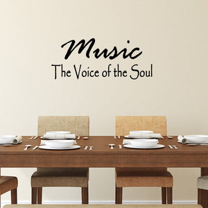 VWAQ Music Is The Voice of the Soul Vinyl Wall Decal - VWAQ Vinyl Wall Art Quotes and Prints