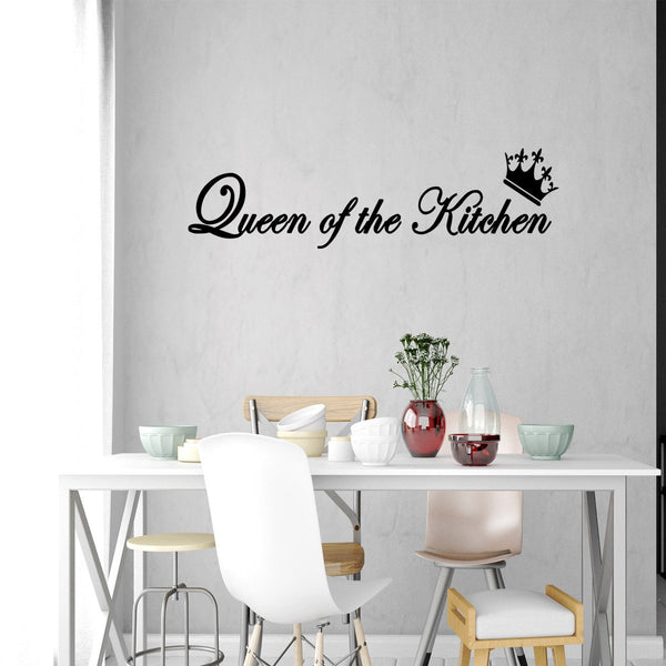 VWAQ Queen of the Kitchen Vinyl Wall Art Decal - VWAQ Vinyl Wall Art Quotes and Prints