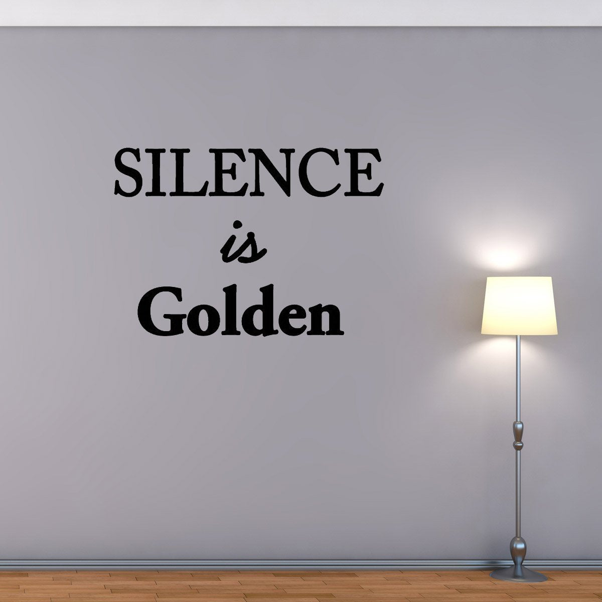Silence is Golden Wall Quotes Decals
