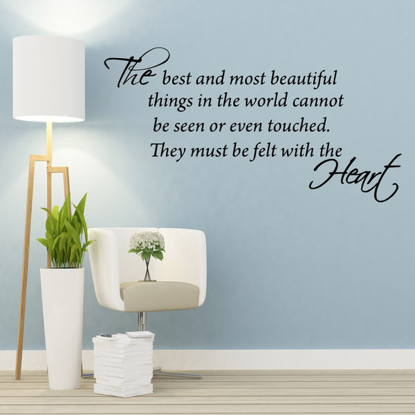VWAQ The Best and Most Beautiful Things Vinyl Wall art Decal