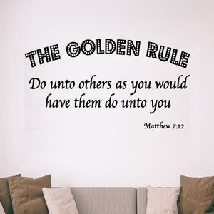 VWAQ The Golden Rule Do Unto Others Matthew 7:12 Bible Vinyl Wall Decal
