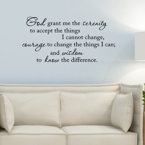 VWAQ Serenity Prayer Wall Decal - VWAQ Vinyl Wall Art Quotes and Prints