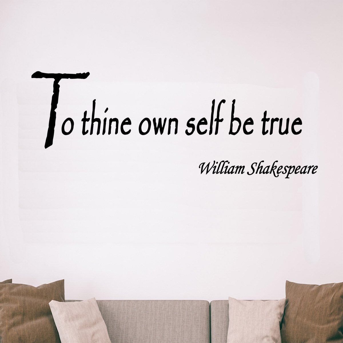VWAQ To Thine Own Self Be True, William Shakespeare Vinyl Wall Decal - VWAQ Vinyl Wall Art Quotes and Prints