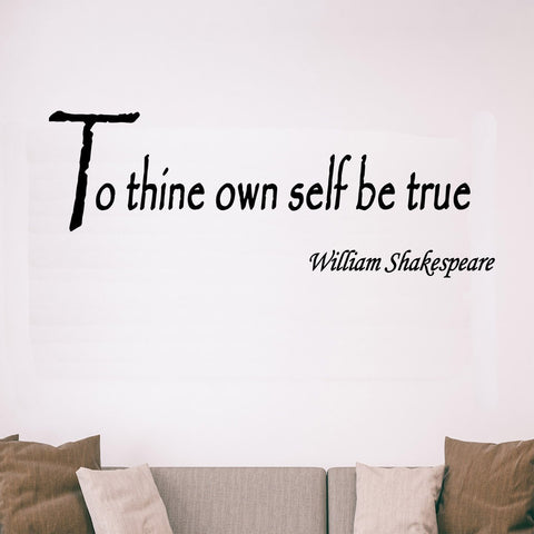 VWAQ To Thine Own Self Be True, William Shakespeare Vinyl Wall Decal