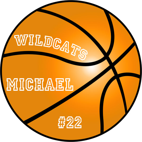 "(Custom Order) for (32) 18"" Peel and Stick Basketball Decals - BB1 - VWAQ Vinyl Wall Art Quotes and Prints"