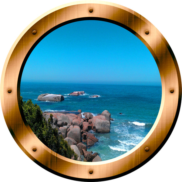 VWAQ Ocean View Bronze Porthole Peel and Stick Vinyl Wall Decal - BP38 - VWAQ Vinyl Wall Art Quotes and Prints