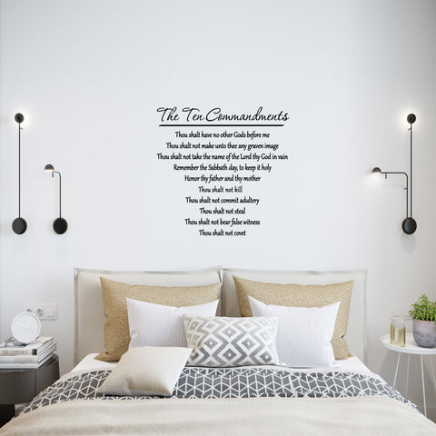 VWAQ 10 Commandments Wall Decal Bible Verse Ten Commandments Wall Art - VWAQ Vinyl Wall Art Quotes and Prints