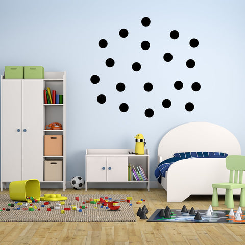 VWAQ 20 Polka Dot Wall Decals 3 Inch Peel & Stick Circles Dots Colors Kids Room - VWAQ Vinyl Wall Art Quotes and Prints