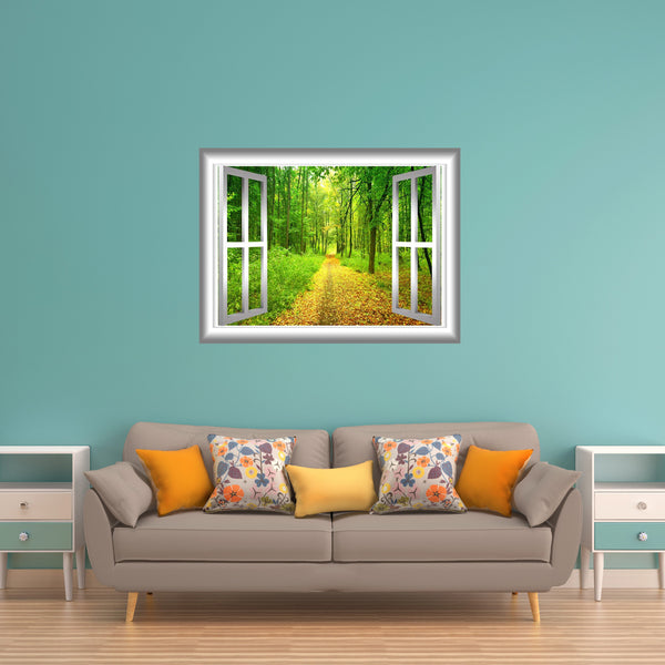 VWAQ 3D Forest Wall Decals Outdoors Wall Decor Peel and Stick Mural - NW22 - VWAQ Vinyl Wall Art Quotes and Prints